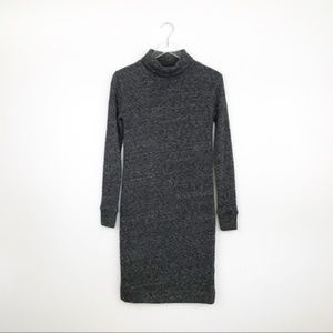 Madewell | Marled Gray Turtleneck Sweater Dress XS